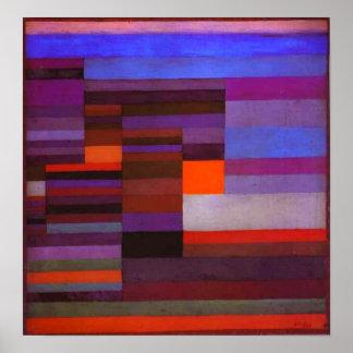 Le feu de Paul Klee dans l'affiche de soirée Poster