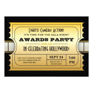 Le film annuel attribue à partie le billet d'or faire-parts