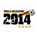 Le football 2014 de champion du monde de drapeau d