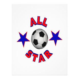 Le football d'All Star Prospectus En Couleur