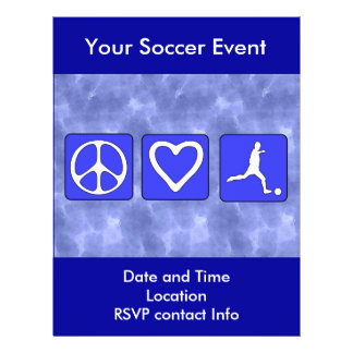 Le football d'amour de paix tract customisé