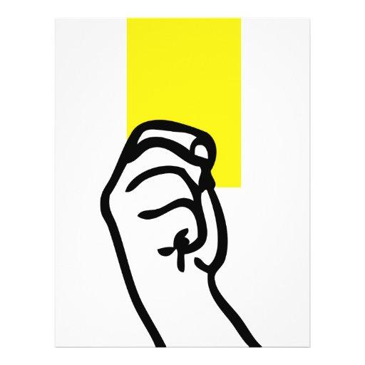 Le football de carte jaune prospectus personnalisés