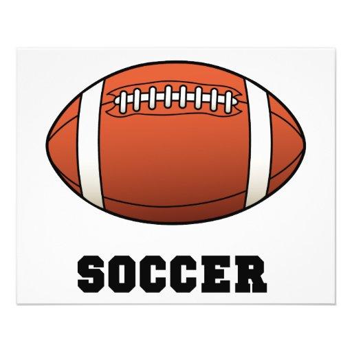 Le football de Futball du football Prospectus En Couleur