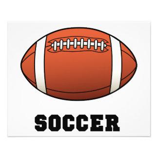 Le football de Futball du football Prospectus 11,4 Cm X 14,2 Cm