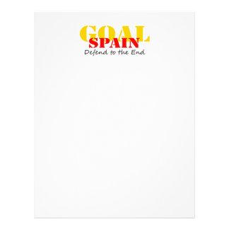 Le football de l Espagne Prospectus Personnalisés