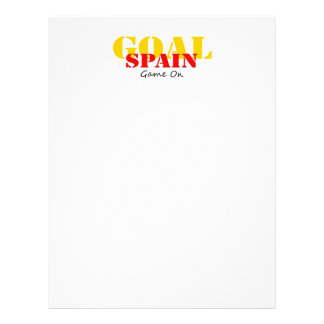Le football de l'Espagne Prospectus En Couleur