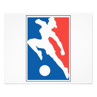 Le football des filles des femmes des Etats-Unis Prospectus 11,4 Cm X 14,2 Cm