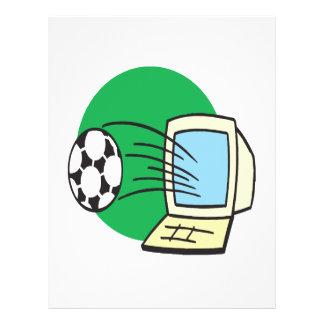 Le football d'imaginaire prospectus avec motif