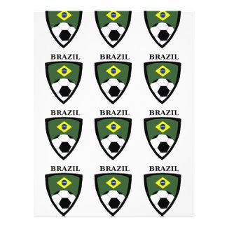 Le football du Brésil Prospectus En Couleur