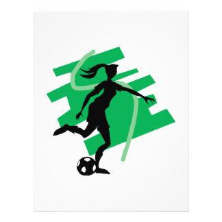 Le football femelle prospectus avec motif