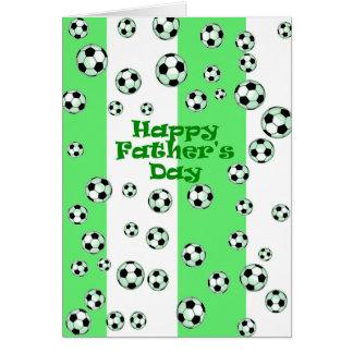 Le football heureux de fête des pères carte de vœux