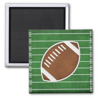 Le football magnet carré