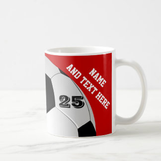Le football personnalisé attaque le nom, nombre, mug blanc