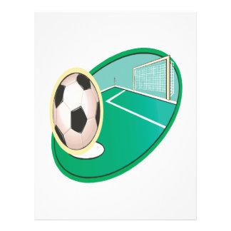 Le football prospectus en couleur