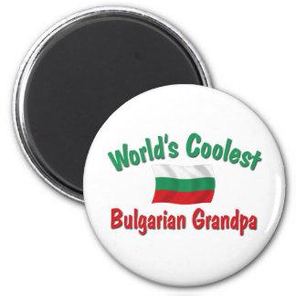 Le grand-papa bulgare le plus frais magnet rond 8 cm