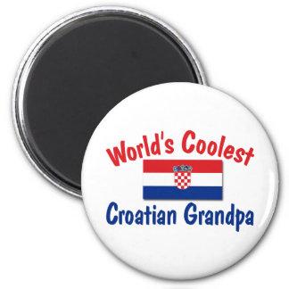 Le grand-papa croate le plus frais magnet rond 8 cm