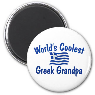 Le grand-papa grec le plus frais magnet rond 8 cm