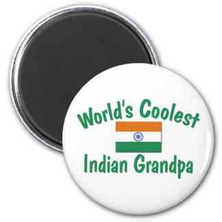 Le grand-papa indien le plus frais magnet rond 8 cm