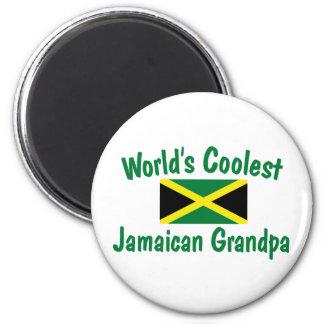 Le grand-papa jamaïcain le plus frais magnet rond 8 cm