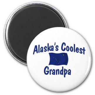 Le grand-papa le plus frais de l'Alaska Magnet Rond 8 Cm