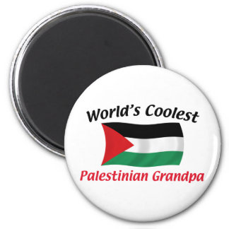 Le grand-papa palestinien le plus frais magnet rond 8 cm