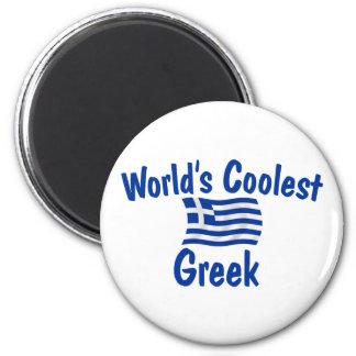 Le Grec le plus frais Magnet Rond 8 Cm