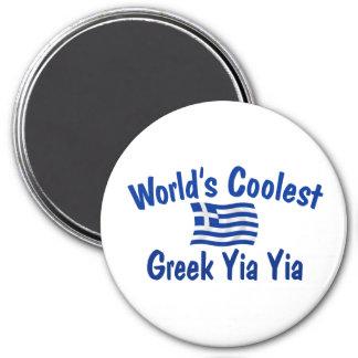 Le Grec le plus frais Yia Yia Magnet Rond 7,50 Cm