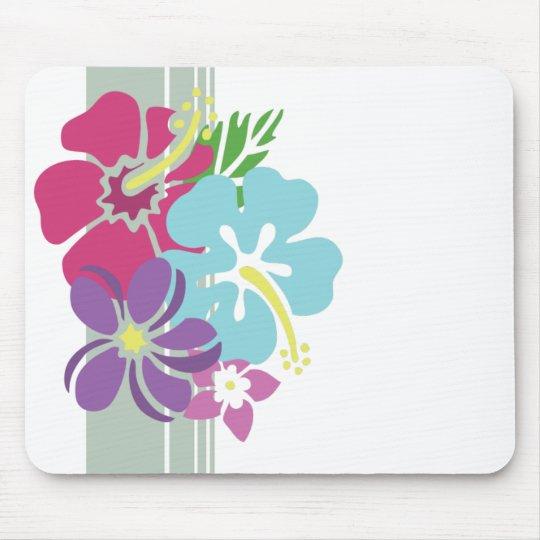 Le Hawaïen fleurit Mousepad Tapis De Souris