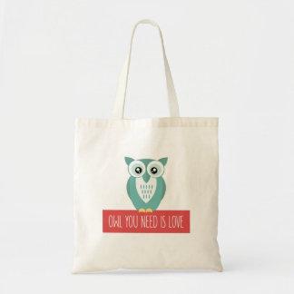 Le hibou que vous avez besoin est amour sac en toile budget