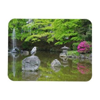 Le Japon, Kyoto. Héron dans le feuille vert frais Magnet En Vinyle