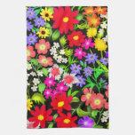 Le jardin coloré fleurit la serviette de cuisine linges de cuisine