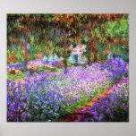Le jardin de l'artiste chez Giverny, Claude Monet Affiche