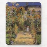 Le jardin de l'artiste chez Vetheuil par Monet, ar Tapis De Souris