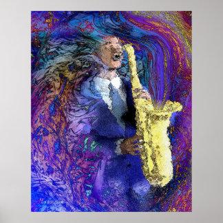 Le joueur de saxo posters