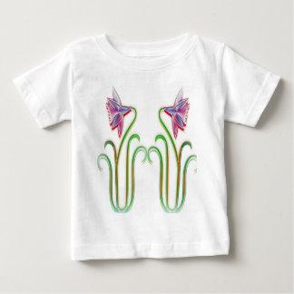 Le jumeau fleurit l'art d'illustration sur des tee shirt