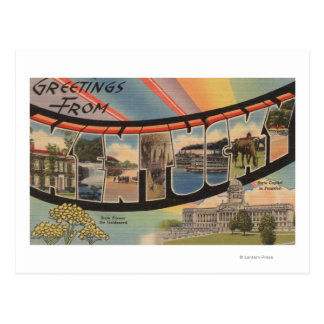Le Kentucky (capitale de l'État/fleur) Carte Postale