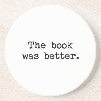Le livre était meilleur dessous de verre en grès