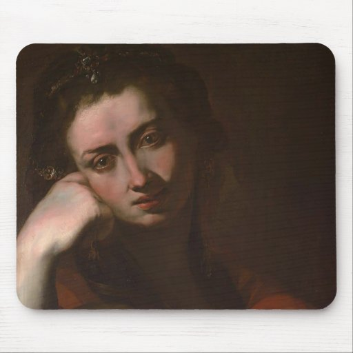 Le Magdalen contrit (Vanitas) par Jusepe Ribera Tapis De Souris