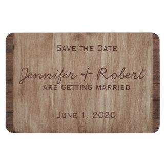 Le mariage campagnard en bois et de bouleau de magnets souples