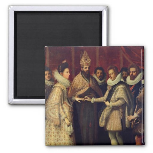 Le mariage de Catherine de Medici Magnets Pour Réfrigérateur