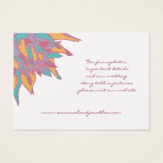 Le mariage de ressort colore la carte florale