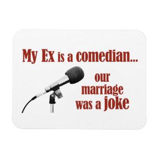 Le mariage était une plaisanterie magnets rectangulaire