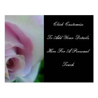 Le mariage lilas s'est levé carte postale