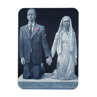 Le mariage magnets rectangulaire