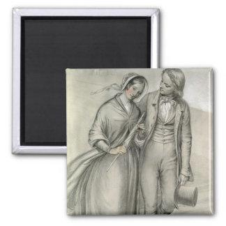 Le matin de mariage - le départ, c.1846 magnets pour réfrigérateur
