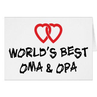 Le meilleur cadeau d'Oma et d'Opa du monde Carte De Vœux