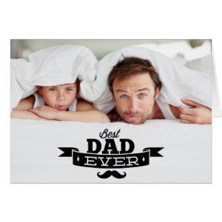 Le meilleur carte photo de fête des pères de moust