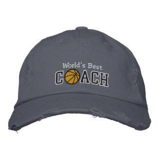 Le meilleur entraîneur de football du monde casquette de baseball brodée