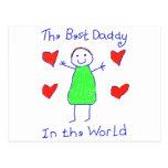 Le meilleur papa au monde cartes postales