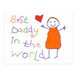 Le meilleur papa en monde cartes postales